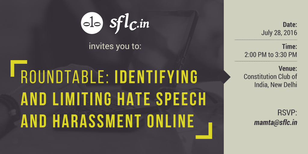Invitation to Round Table on Hate Speech and Online Harrassment