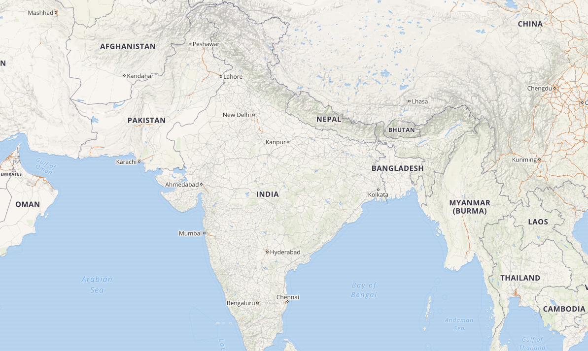 OpenStreetMap of India